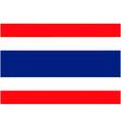 thai flag vector image vector image