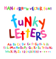 ABC alphabet funky letters children fun colorful vector image