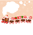 christmas gingerbread train vector image