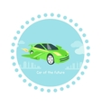 Car of Future Icon Flat Isolated vector image