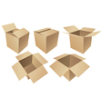 Cardboard boxes isolated on white background vector image