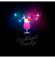 coctail party blue vector image