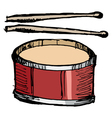 drum vector image