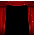 Glittering red curtain Open vector image