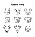 Hand drawn animal - icons vector image