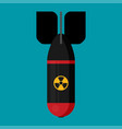 icon in flat style design rocket bomb flies down vector image