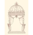 Ivy-covered Wedding Gazebo vector image