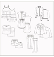 kids clothes vector image