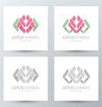 lotus symbol icon vector image