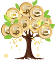 Money tree with coins vector image