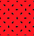 seamless pattern of watermelon vector image