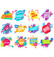set of modern bright different colored sale vector image