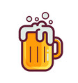 yellow beer glass icon vector image
