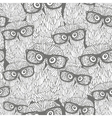 Seamless pattern with grey owls vector image