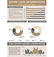 Common Infographic Template vector image