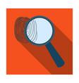 magnifier and fingerprint detection of criminals vector image