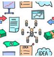 art of business element doodles vector image