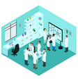 isometric biological science laboratory template vector image