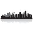Calgary Canada city skyline silhouette vector image