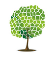 mosaic tree vector image