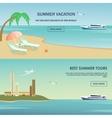 Summer vacation greeting card design vector image