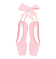 Pink ballet pointe vector image
