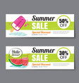 Summer sale voucher templateDiscount coupon Banner vector image