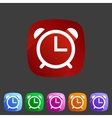 Alarm clock watch icon flat web sign symbol logo vector image