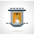 Flat icon for coffee making vector image