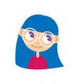 glasses girl is happy vector image