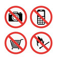 prohibition signs set safety information vector image