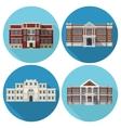 School Building Flat vector image