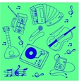 Stock collection music theme doodles vector image
