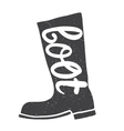Boots with an inscription vector image