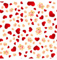 seamless pattern with hearts and bears vector image