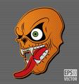 halloween motive icon vector image