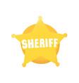 cartoon style grunge american western sheriff vector image