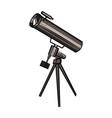 color sketch telescope vector image