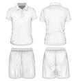 Mens polo-shirt and sport shorts vector image