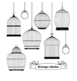 Birdcages silhouettes vector image