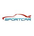 Sportcar logo vector image