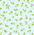 Pattern with little leaves vector image