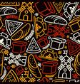 Bakery seamless pattern vector image