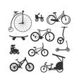 Bike black silhouette mountain ride vector image