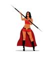 Woman Amazon with a spear Cartoon vector image