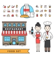 Coocking Design Concept Set vector image