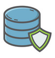 data protection filled outline icon seo vector image