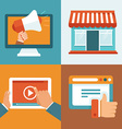 digital marketing concepts in flat style vector image
