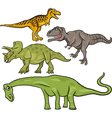 prehistoric dinosaurs cartoon set vector image