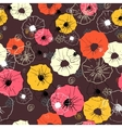 Seamless floral pattern Colorful flower vector image